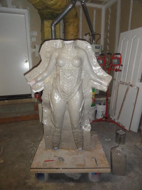 Latex mold material for fiberglass